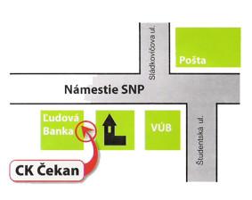 mapa CK CEKAN